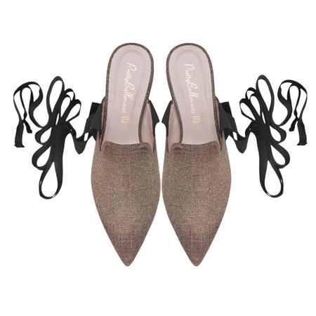 Ella Champagne Leg Tie Slide Pair Pvp 149