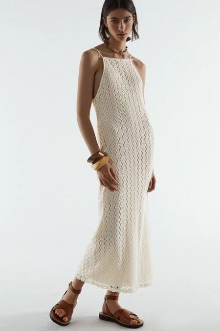 Vestido Blanco De Zara 5