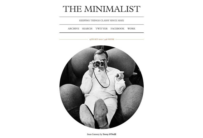 The Minimalist tumblr theme