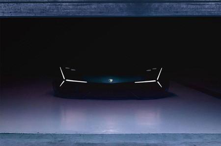 Lamborghini nos muestra, en penumbra, su prototipo del superdeportivo del futuro