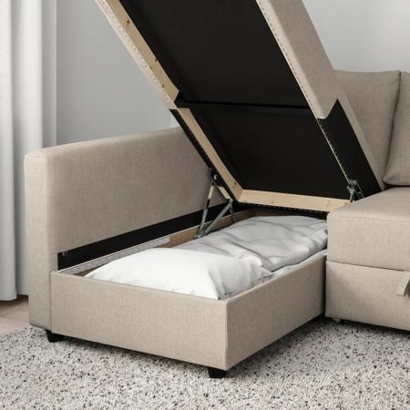 Sofá con almacenaje