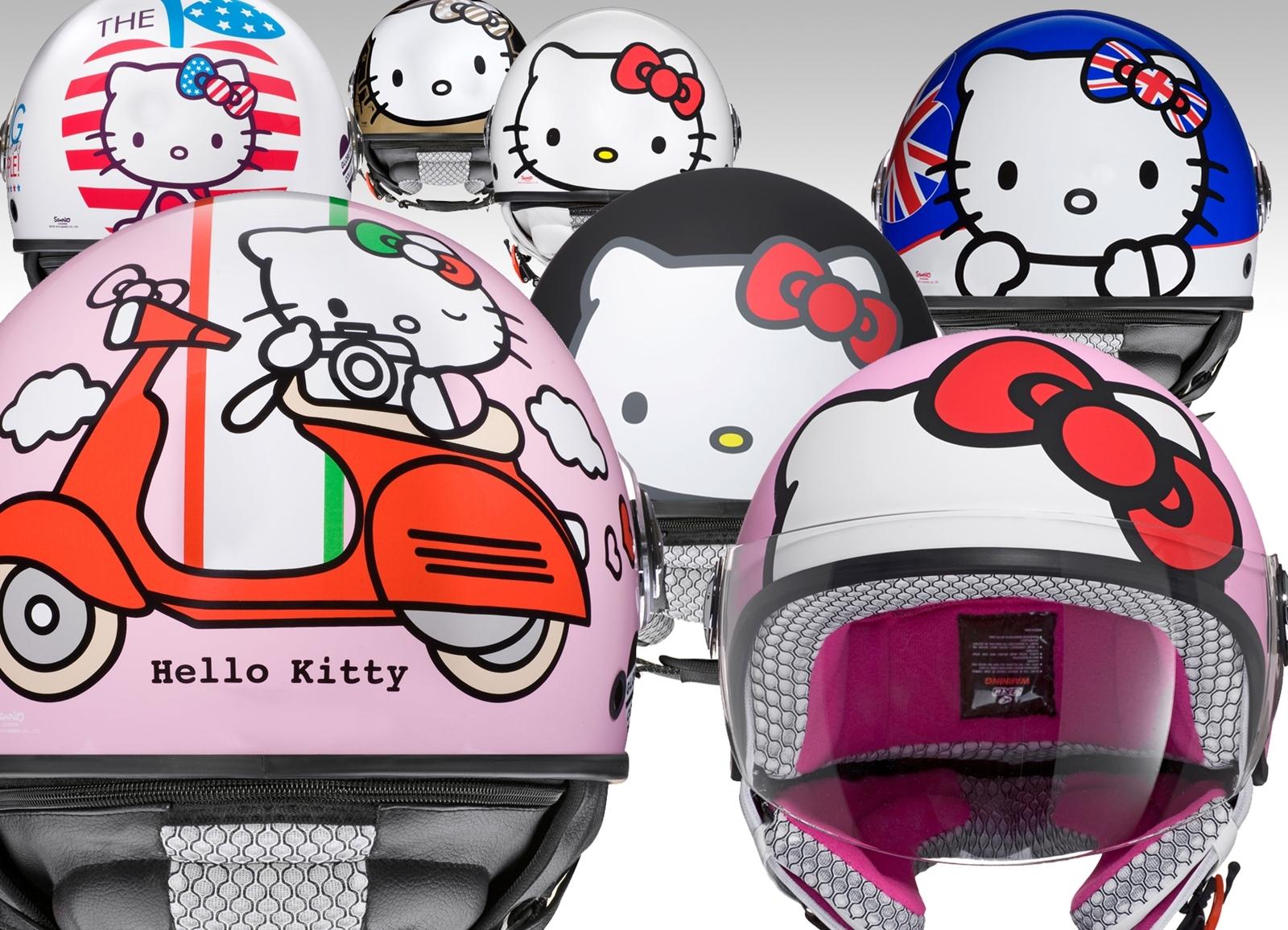 Foto de Colección de cascos jet Hello Kitty de AXO (1/12)