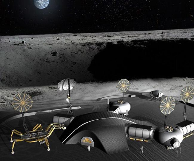 Base lunar imprimida en 3D
