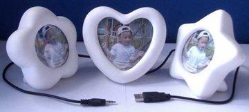 Marco de fotos USB que se ilumina