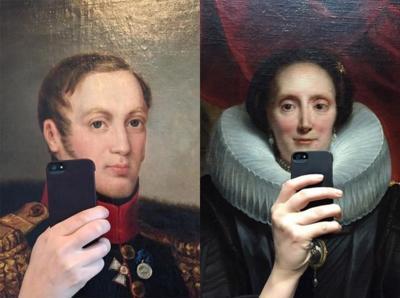 El furor de los selfies llega a los cuadros de los museos