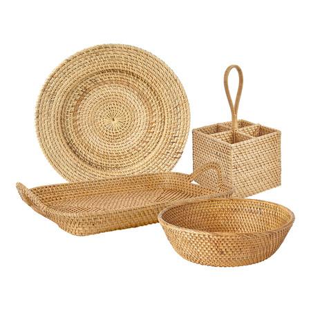 Coleccion De Accesorios De MesaColección de accesorios de mesa por piezas Malang Natural El Corte Inglés