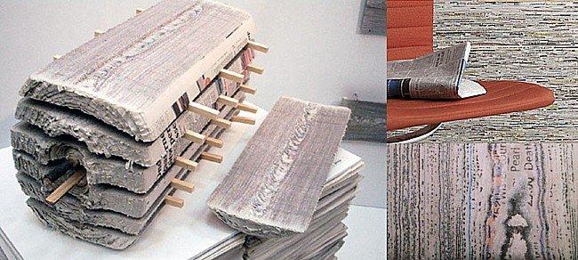 Revestimiento de papel de periódico reciclado