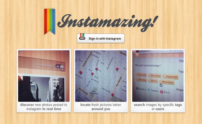 Instamazing, aplicación web para Instagram