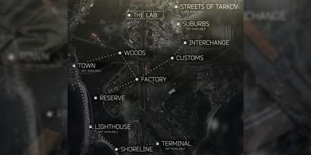 Mapas de Escape from Tarkov: guía con todos los mapas y sus puntos de extracción y looteo