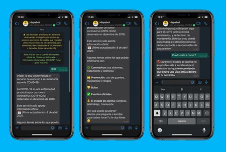 El Gobierno lanza en WhatsApp Hispabot-Covid19, un bot de consultas sobre el coronavirus: así puedes agregarlo y usarlo