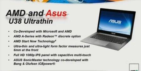 ASUS U38, el primer Ultrathin de AMD del mercado