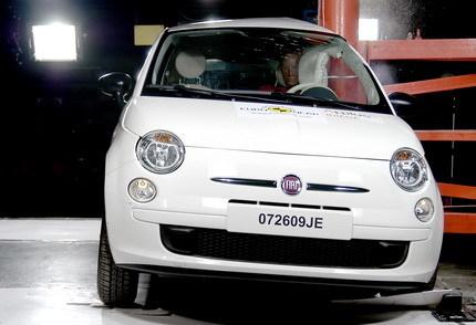 El Fiat 500, un nuevo cinco estrellas en Euroncap, el Renault Twingo se queda con cuatro