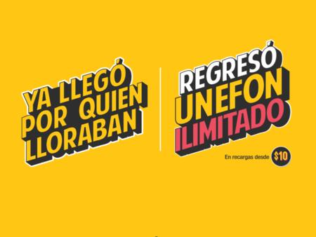 """Unefon Ilimitado regresa a México: la oferta de internet """"ilimitado"""" por 10 pesos al día se puede volver a contratar"""