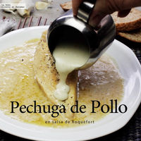 Pechuga de pollo en salsa de queso Roquefort. Receta en video