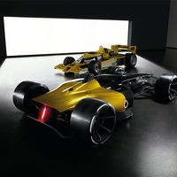 ¿Cómo ve Renault la F1 dentro de diez años? Motores híbridos, iluminación LED y cascos transparentes