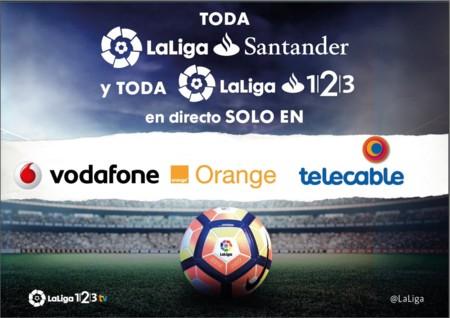 La Segunda división al completo, de momento solo en Orange, Vodafone y telecable