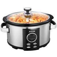 Cupón de descuento de 15 euros en la olla de cocción lenta Aicok de 6,5 litros de capacidad: aplicándolo cuesta 39,99 euros