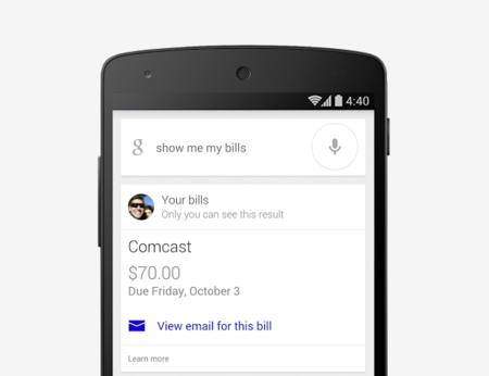 Google Now te recuerda pagar tus deudas