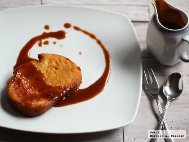 Torrijas con salsa de toffee
