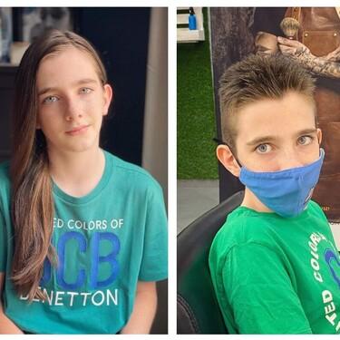 Dejó crecer su pelo durante dos años para poder donarlo, a pesar de las críticas de otros niños: la valiente historia de Diego