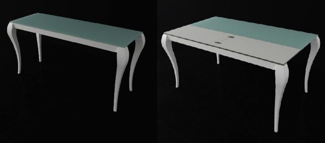 Consolas que se convierten en mesas