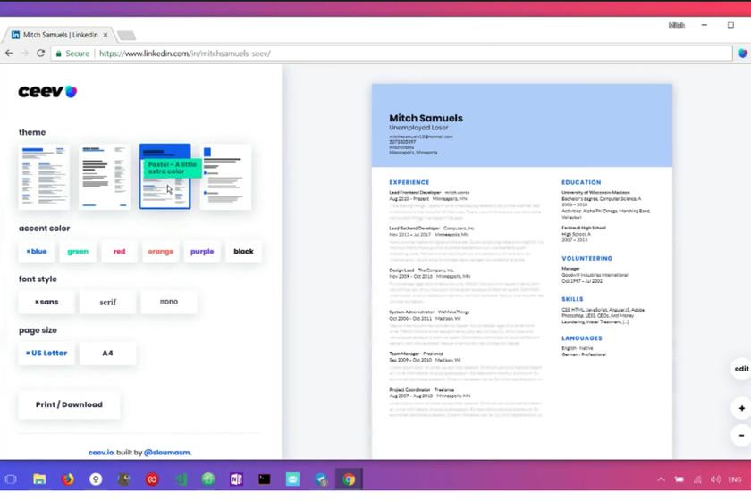 Ceev, la extensión para Chrome que convierte tu perfil de LinkedIn ...
