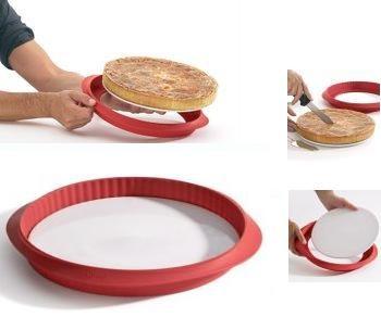 Molde para quiches desmontable de silicona y cerámica