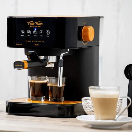 Ecode Cafetera Espresso Forte Touch 20 Bar Panel Tactil Estructura Inox Boquilla De Espuma Capuccinatore 1 6 Litros Express 1050 Watts Eco 420 Clase De Eficiencia Energetica A