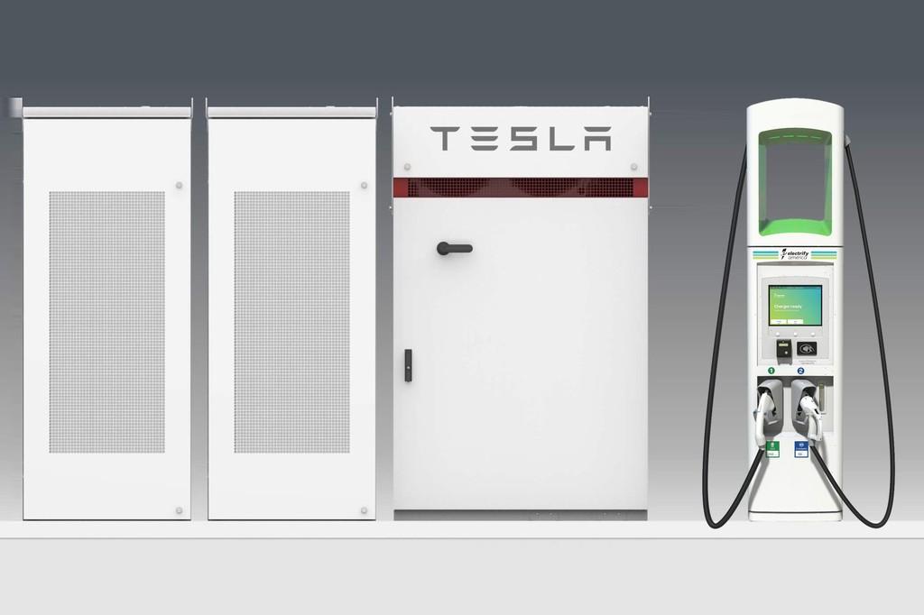Volkswagen usará baterías de Tesla para sus estaciones de recarga en Estados Unidos