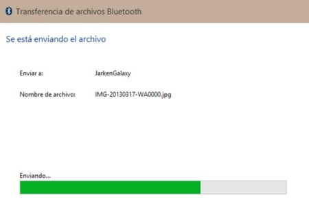 Transferencia de archivos Bluetooth en Windows 8 y RT