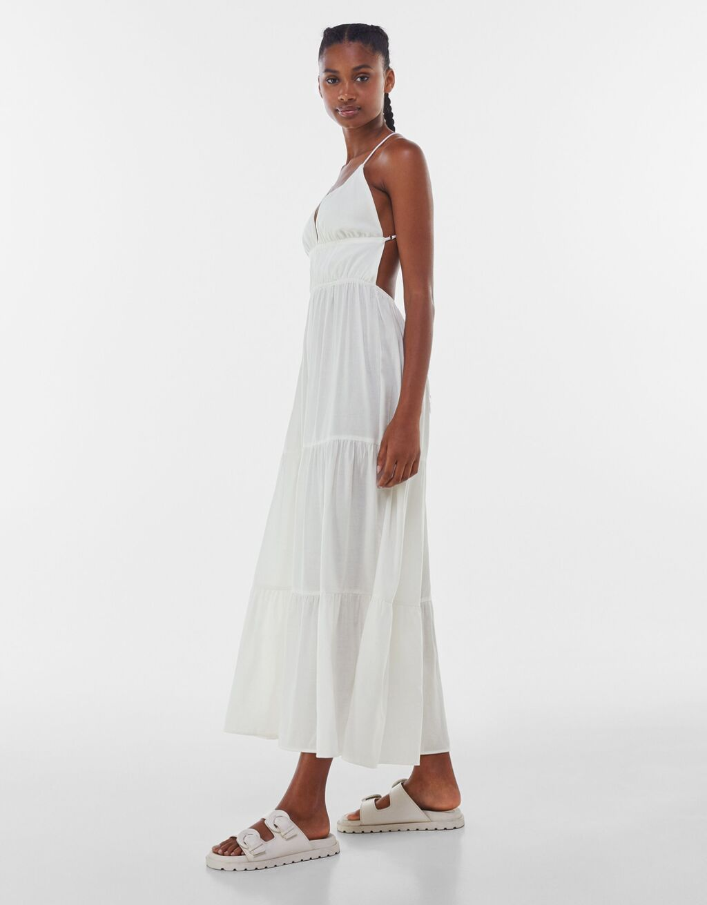 Vestido largo lino