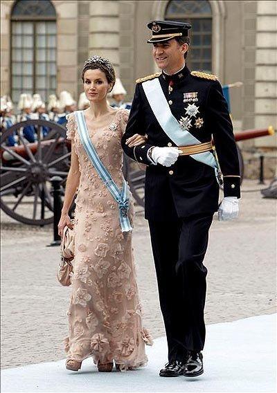 Boda de la Princesa Victoria de Suecia, ceremonia: Princesa Letizia II