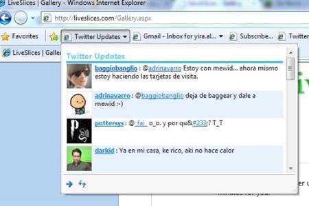 LiveSlices, un directorio de WebSlices útiles para Internet Explorer 8