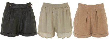 shorts-top-shop-Otoño-Invierno 2010/2011
