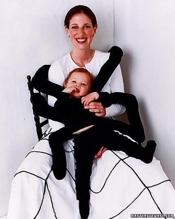 Disfraz casero de araña para bebés