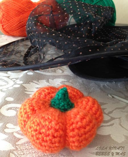 Calabacita de Halloween tejida a crochet