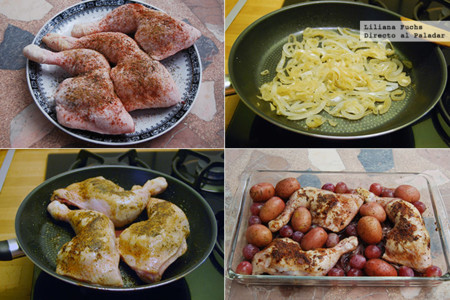 Pollo Caramelizado Uvas Pasos