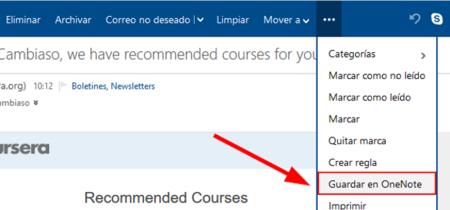 Outlook.com ahora permite guardar correos en OneNote directamente