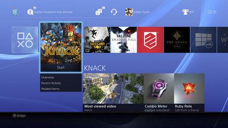 Nuevas imágenes del menú de PS4