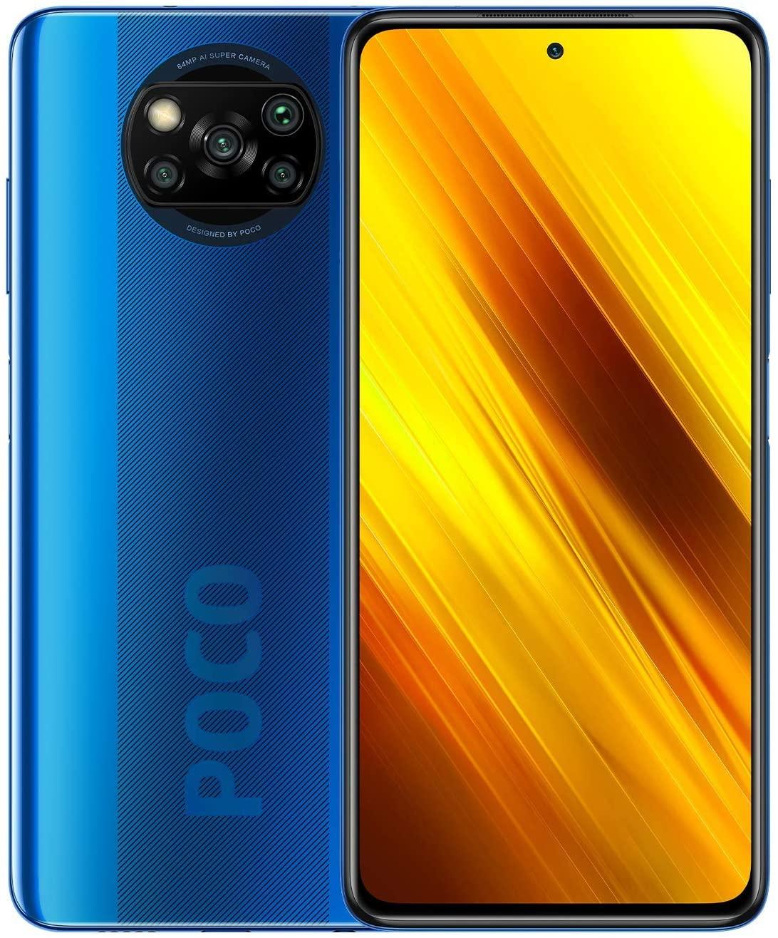 "POCO X3 NFC - Smartphone 6 + 128GB, 6.67"" FHD+ cámara frontal con Punch-hole Display, Snapdragon 732G, 64 MP con IA, Quad-cámara, 5160..."