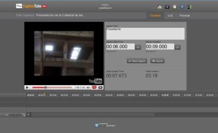 CaptionTube, sencillo editor de sub-títulos para YouTube