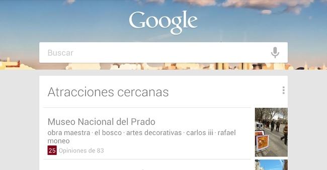 Nuevo widget de Google Now que se muestra en la pantalla de bloqueo