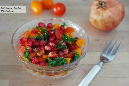 aguacate y granada en ensalada dieta disociada