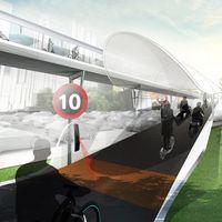 BMW Vision E³ Way, una carretera de peaje elevada para evitar que China se ahogue en su tráfico