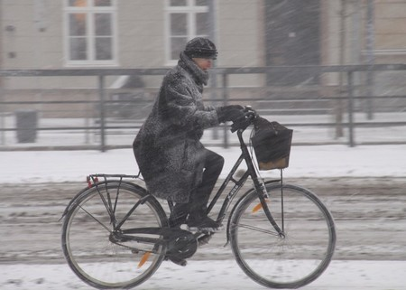 Copenhague bicicleta y nieve