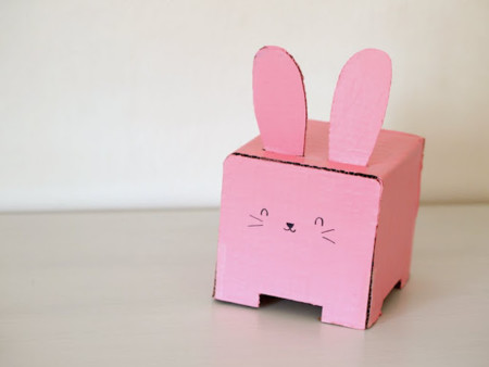Tissue Box Bunny Holder Front