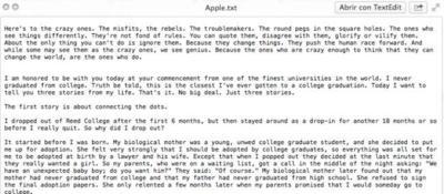 Pages esconde oculto en sus entrañas el discurso de Steve Jobs en la Universidad de Stanford