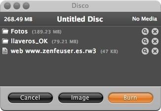 Disco 2 - Ventana de contenidos