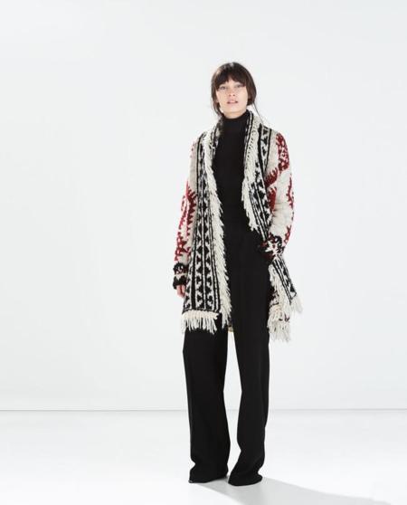 Poncho estilo Isabel Marant de Zara