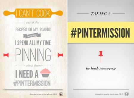 """Original campaña de Honda: ¿Dejarías de """"pinnear"""" cosas en Pinterest si te pagaran 500 dólares?"""